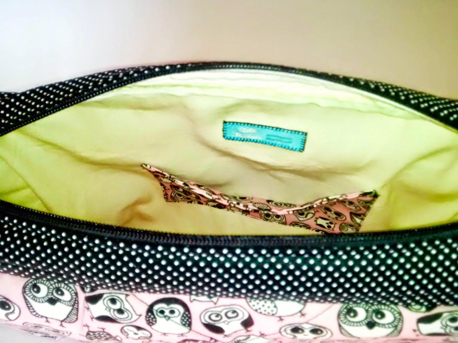 Bolsa com alça transversal de tecido | @ateliemadrica