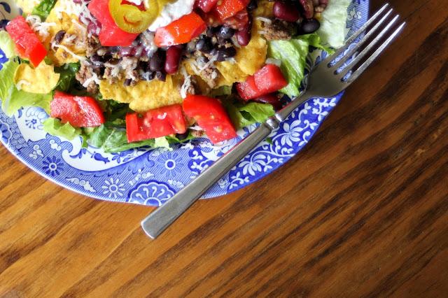 Somehow We Manage Dinner Idea Taco Salad