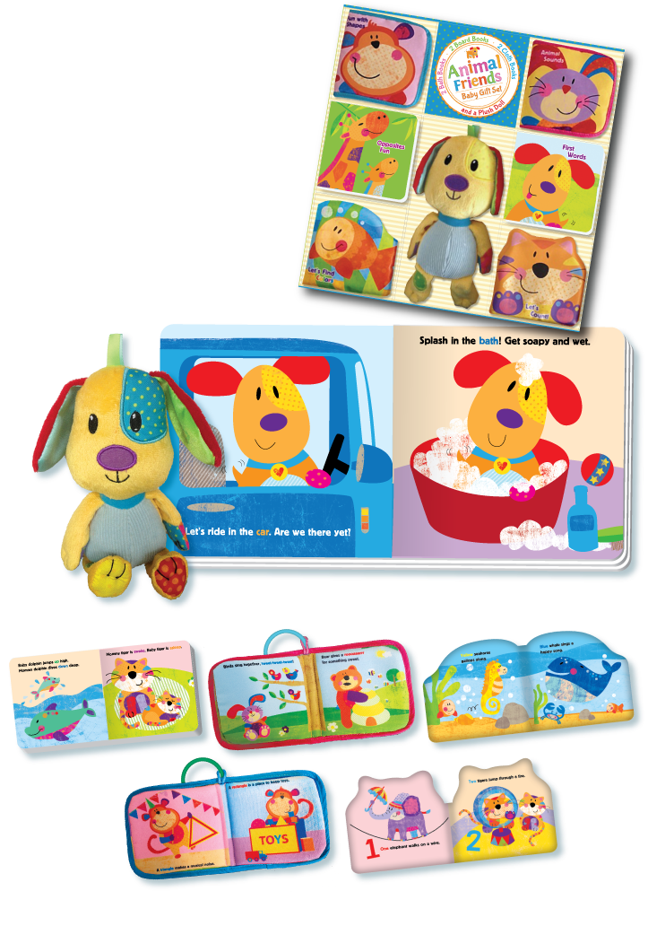 Liza Lewis: Baby Gift Sets - Farm Friends and Animal Friends
