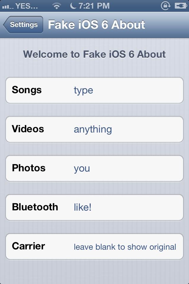 Fake IOS 6 v2.0