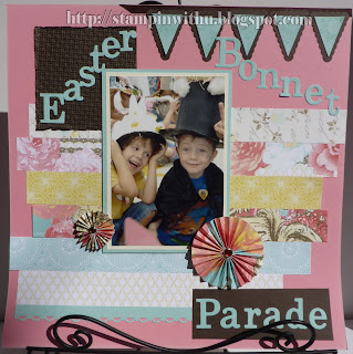 Easter Bonnet Scrapbook Page