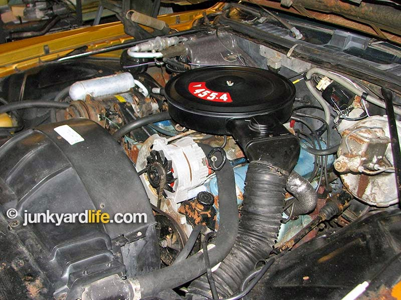 Pontiac 455 V8 engine need a clean-up and updated gaskets to look new.