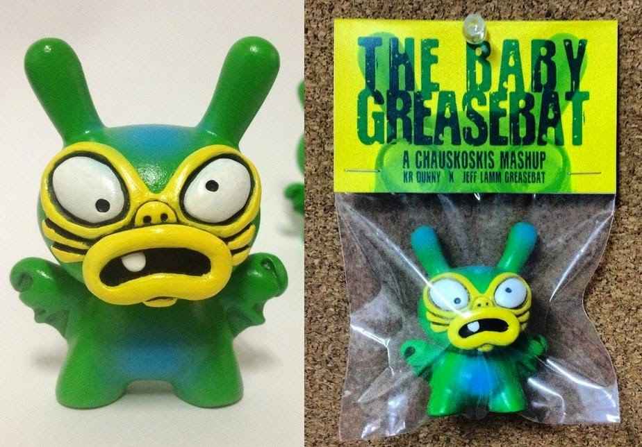 """NYCC 2010"" Green Edition Baby Greasebat Dunny Resin Figures by Chauskoskis"