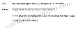 cara menghapus lin rusak di webmaster