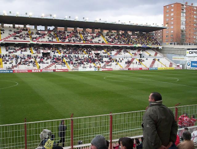 Campo de Fútbol de Vallecas, estadio dónde juega el Rayo Vallecano, equipo de la primera división del fútbol español.