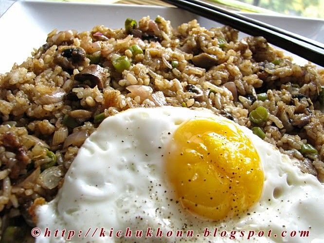 Chinese mushroom fried rice
