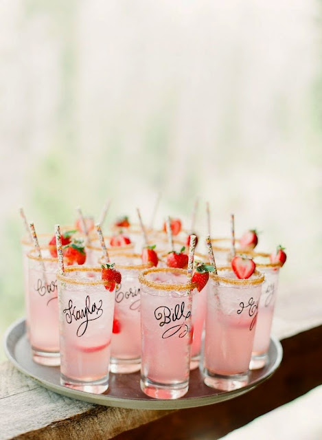 12 Party Ways To Use Calligraphy; drink glasses