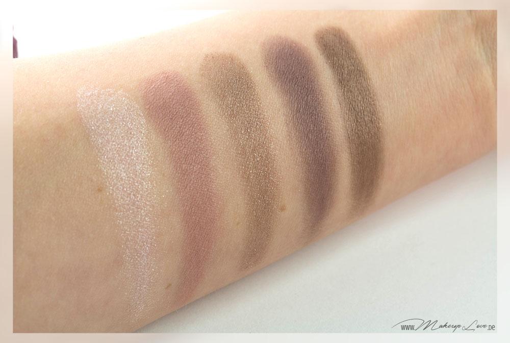 Avon eyeshadow palette glamorous roses swatches