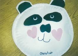 Panda Paper Plate Craft Ideas