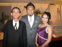 Band manager Jason Geh with newly weds Jeremy and Arina