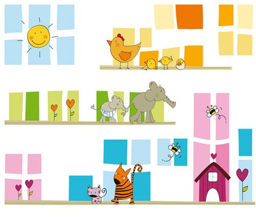 Recursos para educaci n infantil murales para la clase pasar lista tiempo atmosf rico - Cenefas de papel infantiles ...