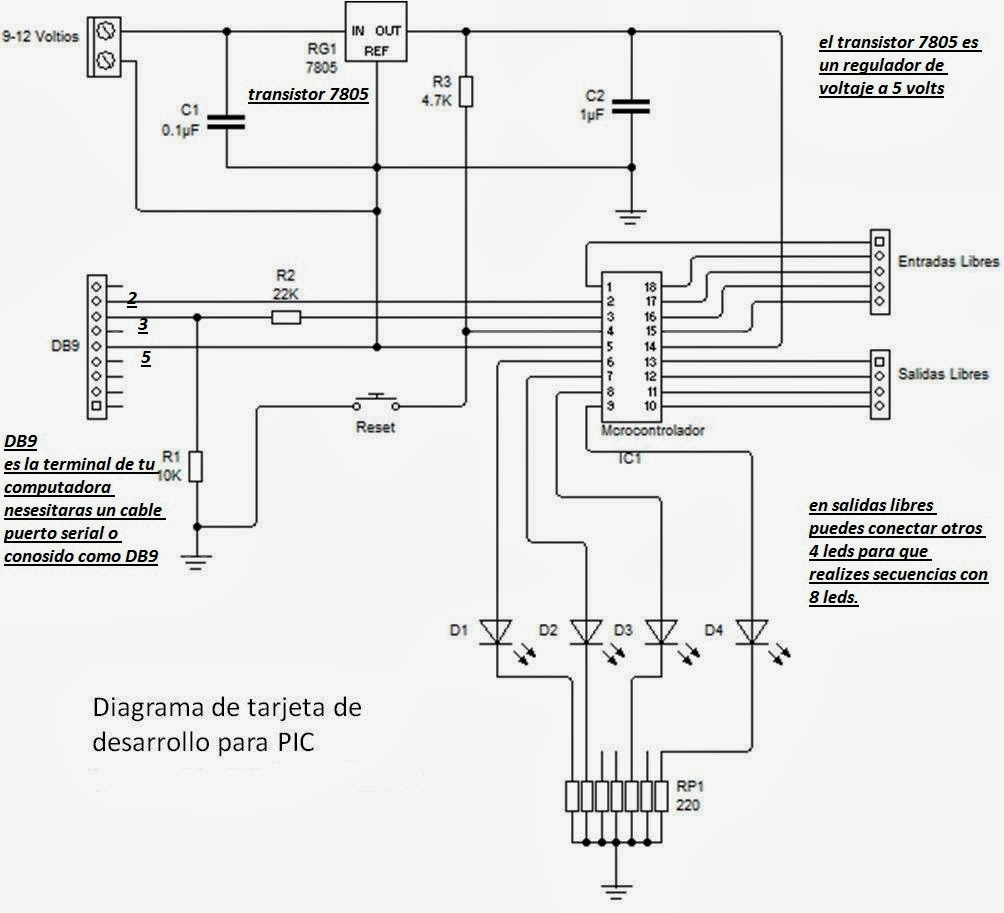circuitos de electronica  picaxe microcontrolador