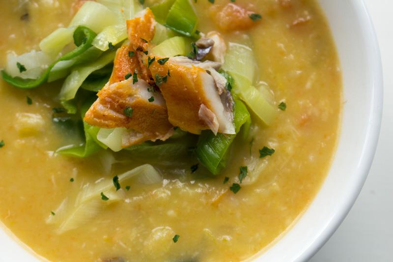 Creamy Leek and Potato Seafood Chowder | Svelte Salivations