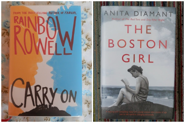 Rainbow Rowell, Carry on, Anita Diamant The Boston Girl.  Library love secondhandsusie.blogspot.co.uk