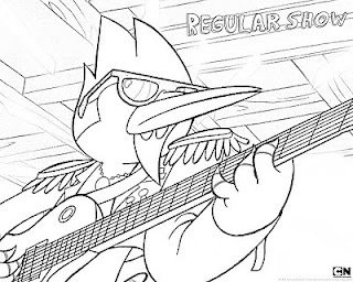 Regular Show coloring pages Mordecai