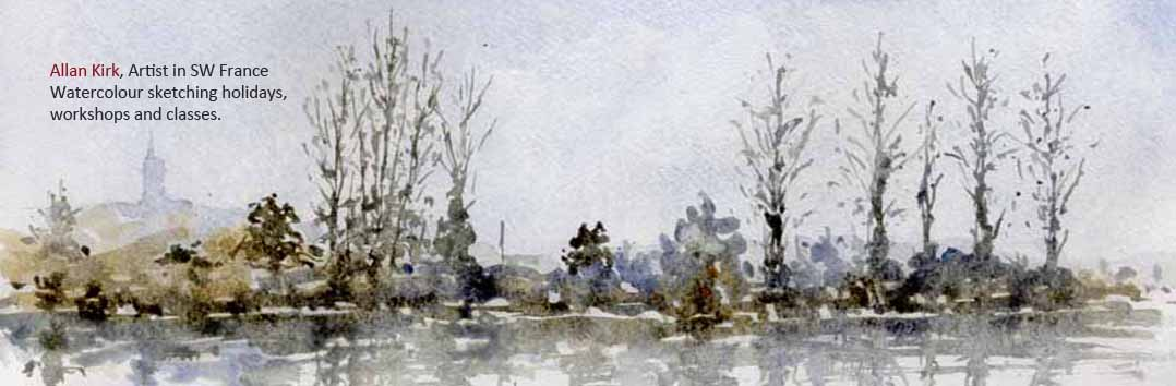 Watercolour with Allan Kirk at Tarnincolour