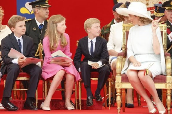 Belgium Royals Celebrates Belgian National Day 2015