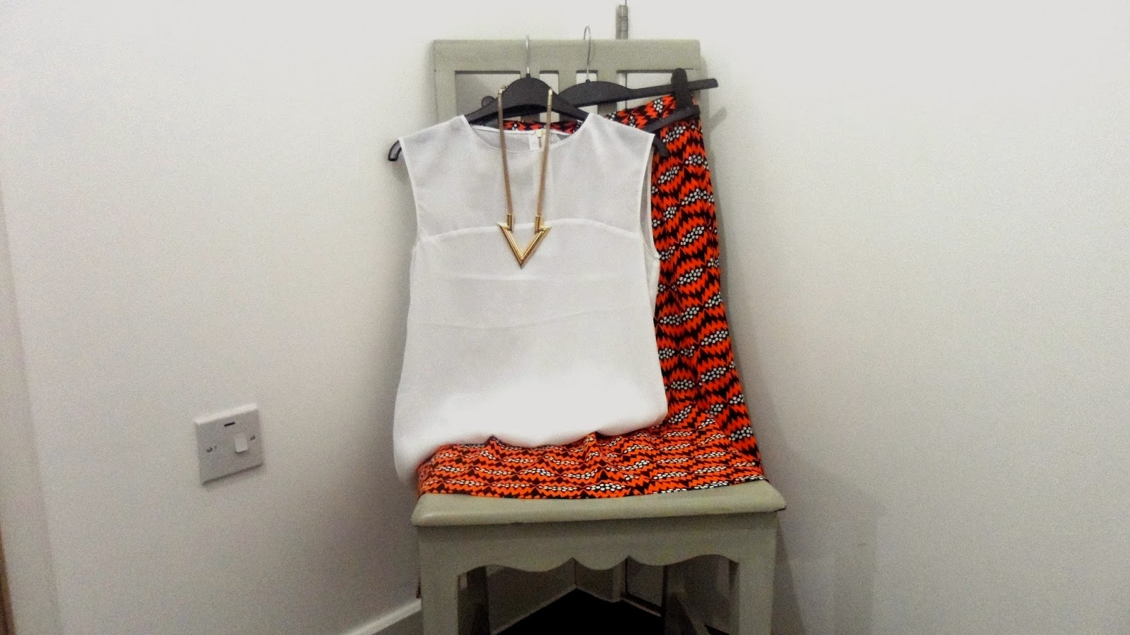River Island Orange tribal print skirt