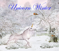 Unicorn Winter fantasy backgrounds, digital fantasy backgrounds, unicorns, winter