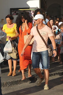 Rihanna walking down the street