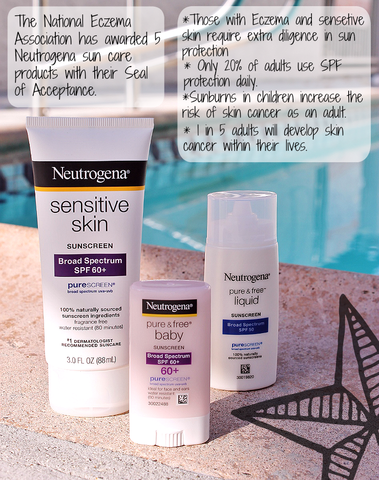 This Summer #ChooseSkinHealth with Neutrogena, now with 5 Sun Care Products featuring the Seal of Acceptance from the National Eczema Association. #ad