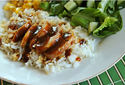 Oven Baked Chicken with Ginger Plum Sauce