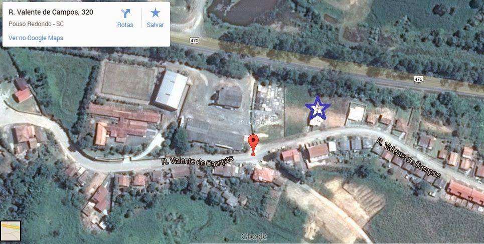Local de atendimento no mapa