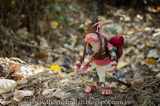 ooak doll traveller goblin fantasy creature