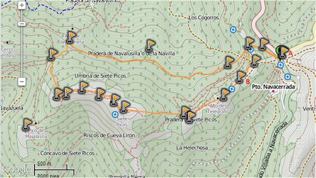Track de Siete Picos Invernal
