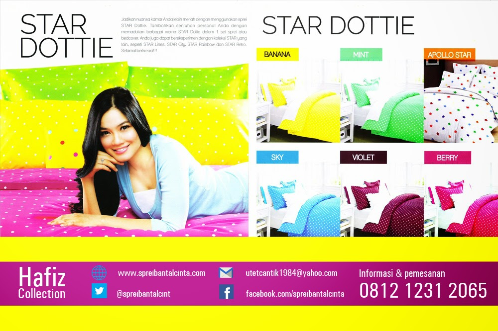 Jual Sprei Star-grosir sprei-bedcover Star Dottie-Hafiz Collection-karpet selimut-bantal cinta-jakarta-081212312065
