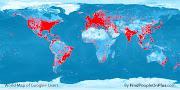 MAPA MUNDO - As 150 aglomerações mais ricas. Desigualdade de renda desigualdade de renda