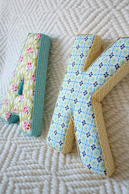 What I found today - Fabric Letters