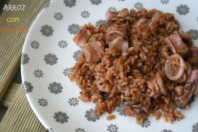 arroz,chipirones, arroz con chipirones