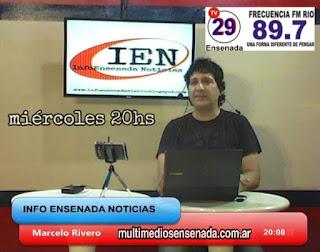 InfoEnsenada Noticias, miércoles 20 hs por Canal 29 y FM Río