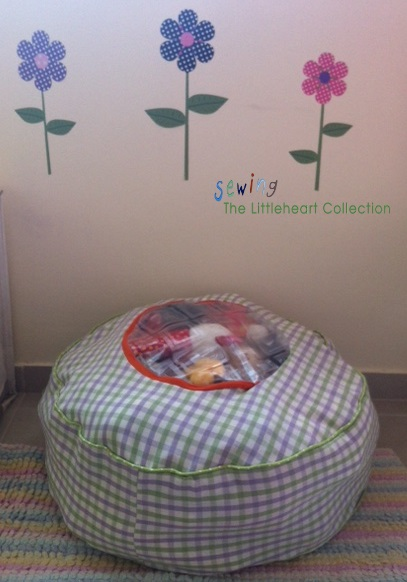 Sewing The Littleheart Collection: Stuffed animal storage floor cushion