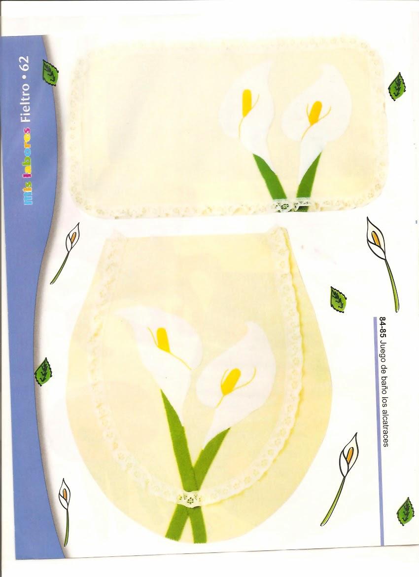 Juegos De Baño De Fieltro Para Primavera:Juegos de baño en fieltro – Revistas de manualidades Gratis