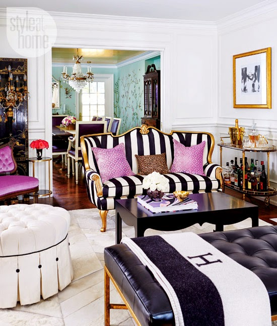 pink glam living room decor Savvy City Chic: Eclectic Glamour