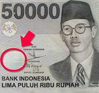 """Ada """"sesuatu"""" di uang pecahan 50 ribu lama"""