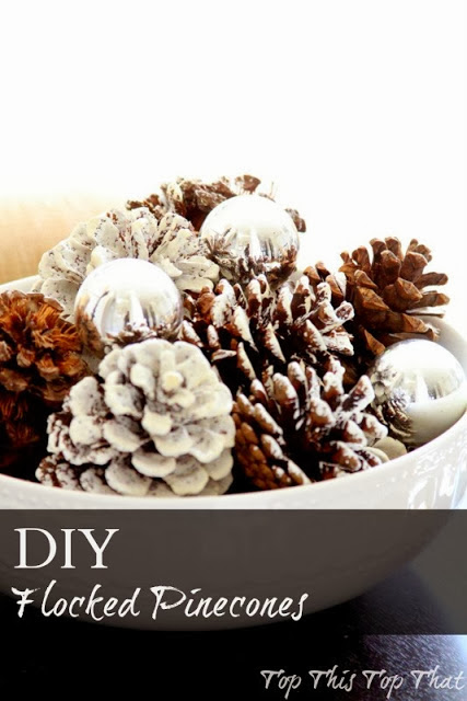 http://topthistopthat.blogspot.com/2013/12/create-perfectly-flocked-pinecones.html