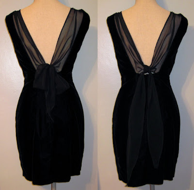 V Bow Back 80s Style Size 9/10 %100 Rayon Formal Dress