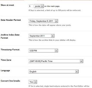 Tampilan Formating Blogspot