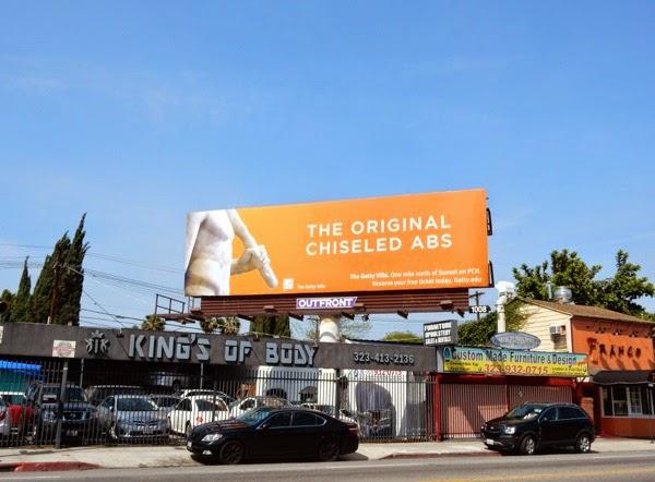 original chiseled abs Getty Villa billboard 2015