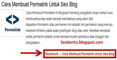 Cara Buat Read More Otomatis di Blogspot