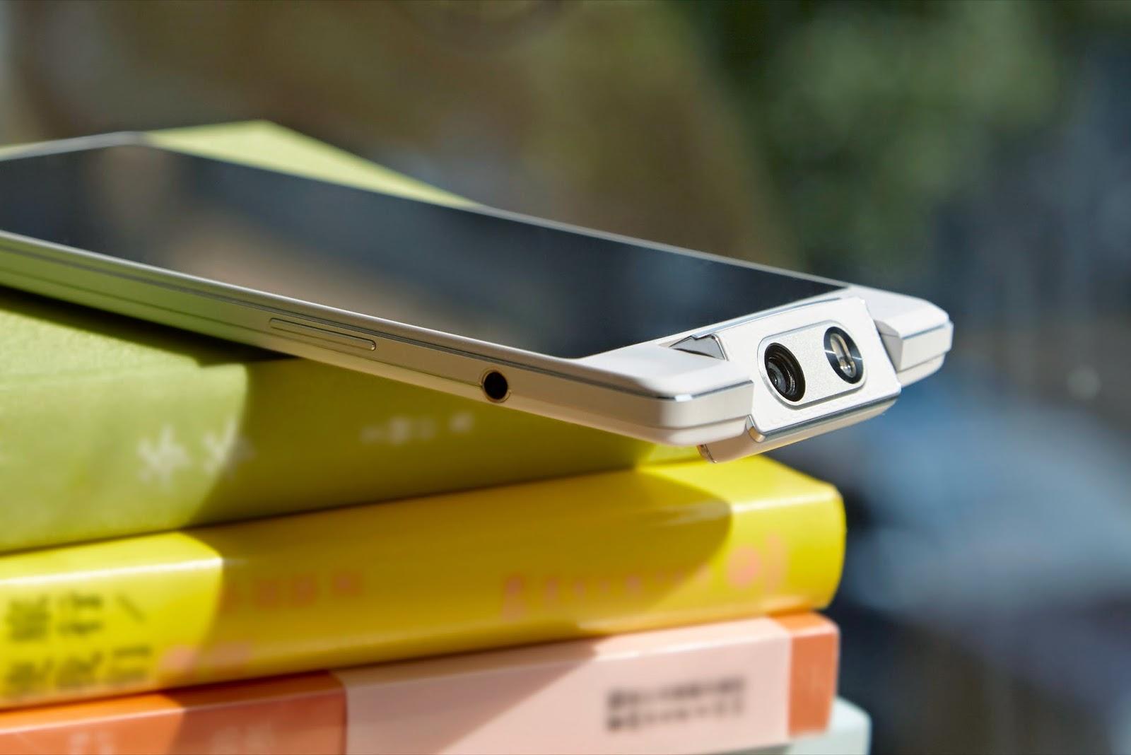 Oppo N3 has a motorized swivel camera