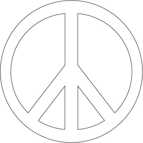 Sly image pertaining to printable peace signs