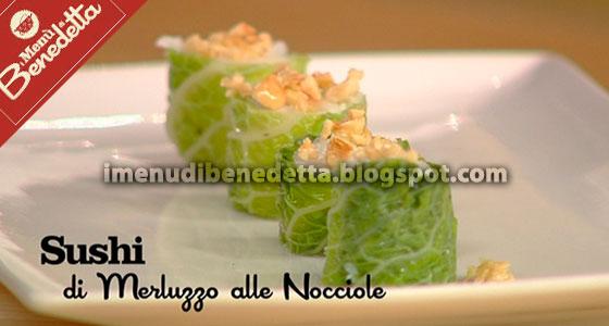 Sushi di Merluzzo alle Nocciole di Benedetta Parodi