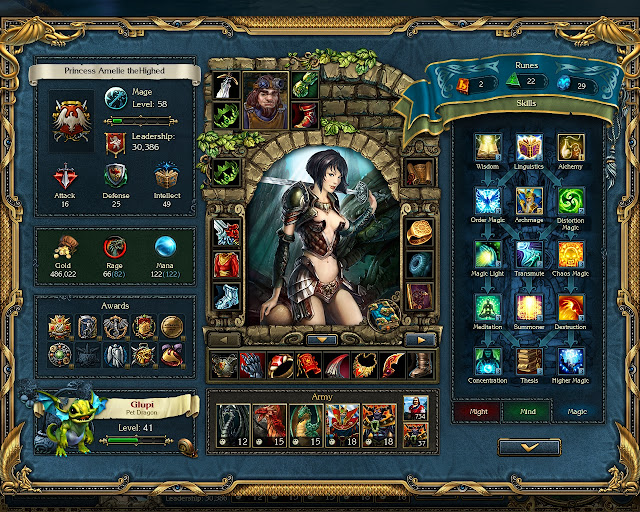 King's Bounty: Crossworlds - Hero Decriptive Screenshot