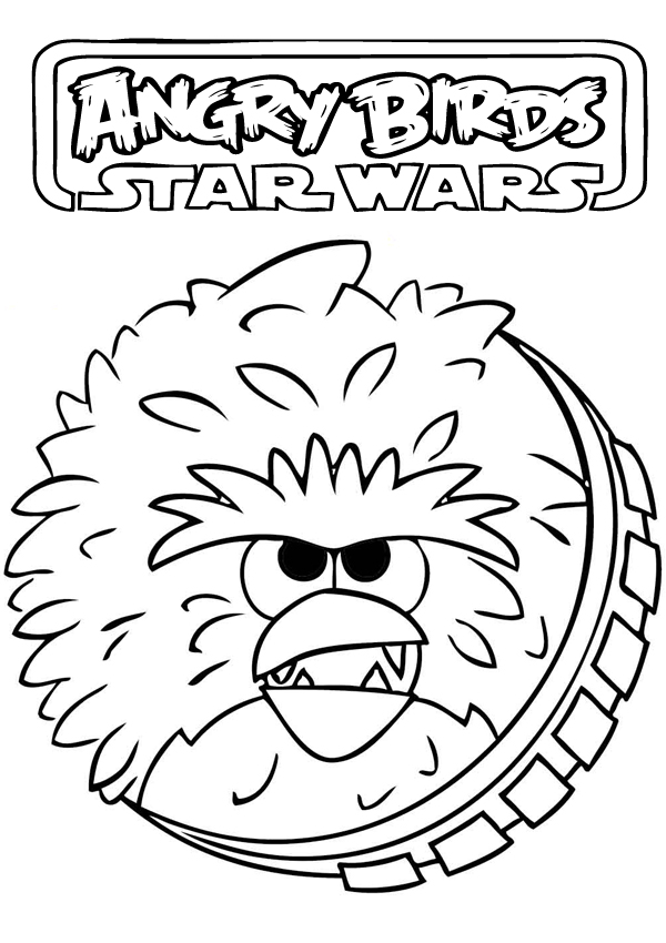 Angry Birds Star Wars Coloring Pages - Cartoon Coloring Pages