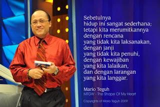 Biografi Mario Teguh | Tokoh Motivator Nasional
