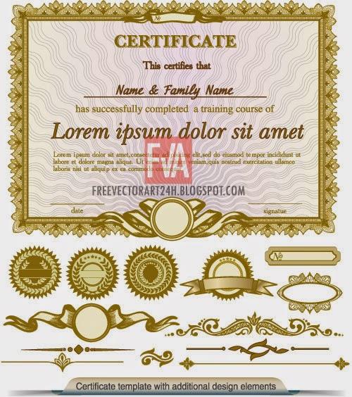 Free vector art free vector art nice certificate vector graphics yelopaper Gallery